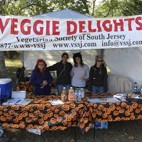Our veggie food booth
