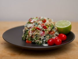 chicpea and quinoa salad